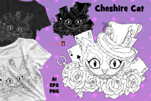 Print on Demand: Cheshire Cat for Coloring or Printing Graphic Illustrations By ladymishka