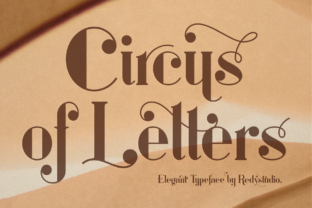 Print on Demand: Circus of Letters Serif Fuente Por RedyStudio