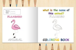 Coloring Book Animal with Name FLamingo Graphic Coloring Pages & Books Kids By 57creative