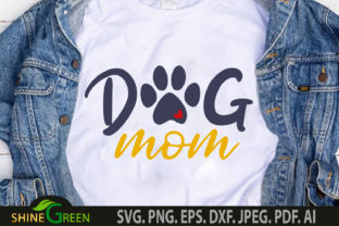 Print on Demand: Dog Mom Heart Paw Mothers Day SVG Graphic Crafts By ShineGreenArt