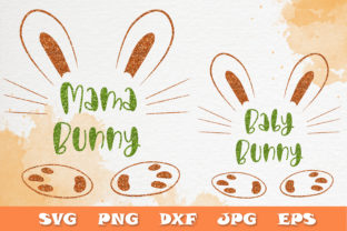 Print on Demand: Easter Baby Mama Bunny SVG Mother Quotes Graphic Crafts By Citrum Nobile