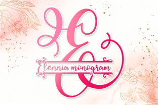 Print on Demand: Elennia Monogram Decorative Font By niyos.studio