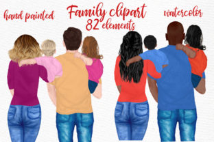 Print on Demand: Family Clipart Mothers Day Cipart Graphic Illustrations By LeCoqDesign