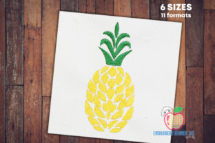 Fancy Pineapple Fruit Quick Stitch Food & Dining Embroidery Design By embroiderydesigns101