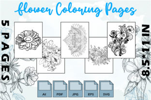 Flower Coloring Pages VOL 7 | KDP Graphic Coloring Pages & Books Adults By Kdp Speed