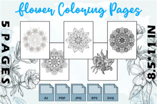 Flower Coloring Pages VOL 8   KDP Graphic Coloring Pages & Books Adults By Kdp Speed