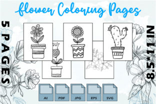 Flower Coloring Pages VOL 9 | KDP Graphic Coloring Pages & Books Adults By Kdp Speed