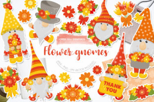 Flower Gnomes Clipart Graphic Illustrations By Afrin_Art
