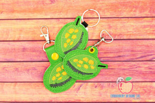 Fresh Ripe Jackfruit ITH Keyfob Food & Dining Embroidery Design By embroiderydesigns101