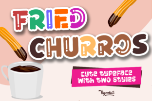 Print on Demand: Fried Churros Display Font By Tigade std