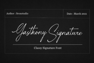 Print on Demand: Gasthony Signature Script & Handwritten Font By Sronstudio