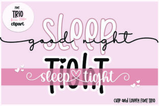 Print on Demand: Goodnight Sleep Tight Script & Handwritten Font By Fillo Graphic