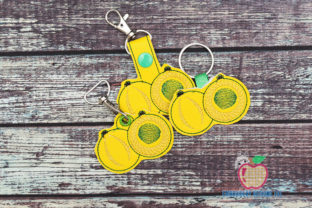 Gooseberry Emblica Keyfob Keychain ITH Food & Dining Embroidery Design By embroiderydesigns101