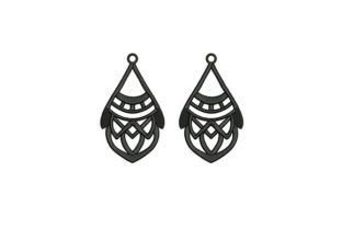 Gray Colored Earrings Accessories Embroidery Design By DigitEMB