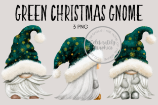 Green Christmas Gnome Clipart Graphic Illustrations By Celebrately Graphics