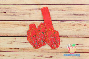 Heart Shape Keyfob Keychain ITH Valentine's Day Embroidery Design By embroiderydesigns101