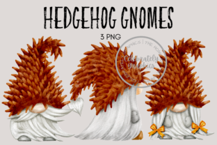 Hedgehog Gnome Clipart Graphic Illustrations By Celebrately Graphics
