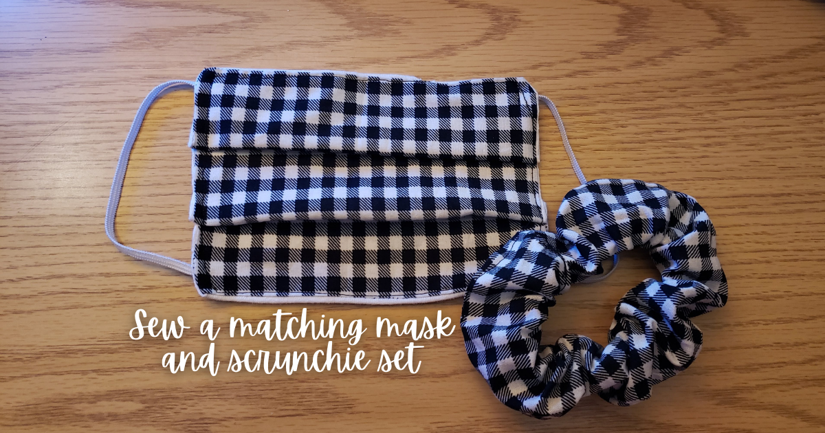 How To Sew a Mask and Scrunchie Set