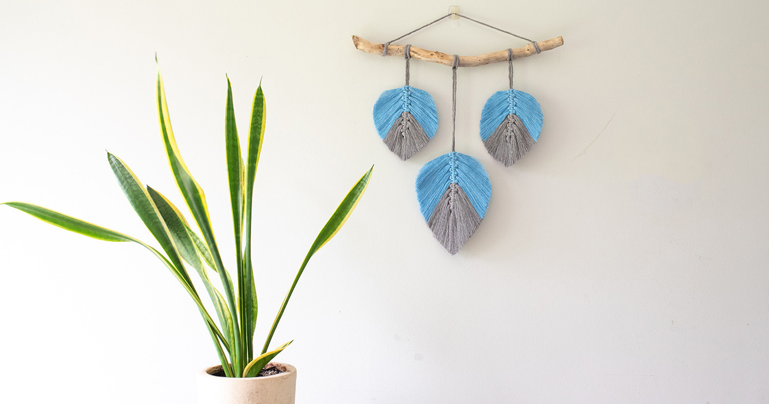 How to Make a Macramé Feather