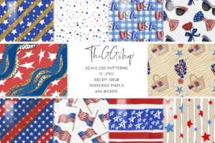 Print on Demand: Independence Day Seamless Patterns Graphic Patterns By TheGGShop 1