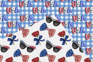 Print on Demand: Independence Day Seamless Patterns Graphic Patterns By TheGGShop 3