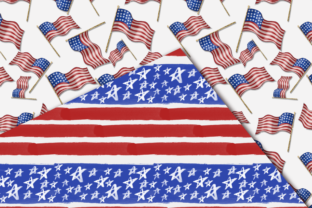 Print on Demand: Independence Day Seamless Patterns Graphic Patterns By TheGGShop 4