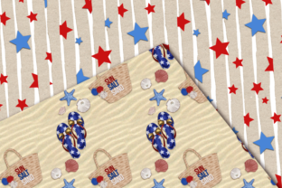 Print on Demand: Independence Day Seamless Patterns Graphic Patterns By TheGGShop 6