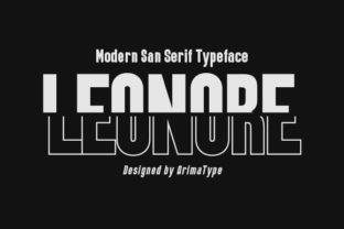 Print on Demand: Leonore Display Font By arimatype