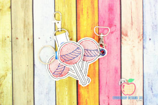 Lollipop Candy Keyfob Keychain ITH Dessert & Sweets Embroidery Design By embroiderydesigns101