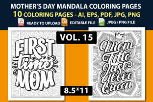 MOTHER'S DAY MANDALA COLORING PAGES Graphic Coloring Pages & Books Kids By triggeredit