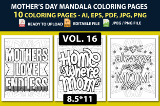 Mother's Day, Mother's Day Coloring Page Graphic Coloring Pages & Books Kids By triggeredit