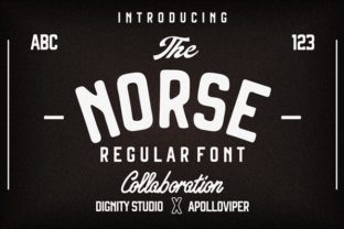 Print on Demand: Norse Display Font By dignity.std