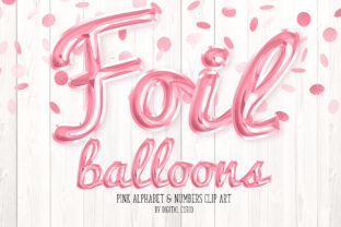 Print on Demand: Pink Foil Balloon Script Alphabet Graphic Illustrations By Digital Curio
