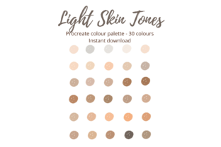 Procreate Light Skin Colour Palette Graphic Actions & Presets By Mini Trezò Design