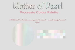 Procreate Mother of Pearl Palette/Swatch Gráfico Acciones y Pre-ajustes Por Mini Trezò Design