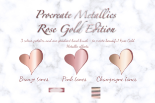 Procreate Rose Gold Metallic Palette Set Graphic Actions & Presets By Mini Trezò Design