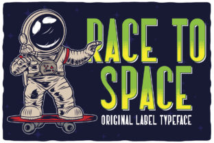 Print on Demand: Race to Space Display Font By Vozzy Vintage Fonts And Graphics
