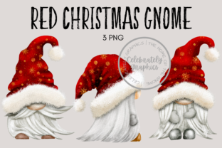 Red Christmas Gnome Clipart Graphic Illustrations By Celebrately Graphics