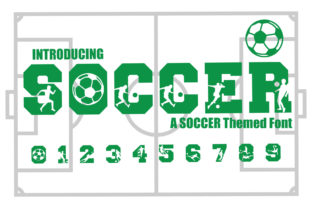 Print on Demand: Soccer Display Schriftarten von KtwoP