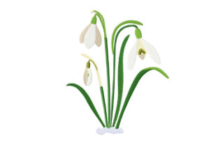 Print on Demand: Spring Snowdrops Spring Embroidery Design By EmbArt