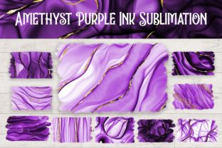 Print on Demand: Sublimation Amethyst Purple Ink Graphic Backgrounds By PinkPearly
