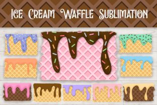 Print on Demand: Sublimation Ice Cream Waffle Cone Graphic Backgrounds By PinkPearly