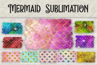 Print on Demand: Sublimation Mermaid Scales Glitter Graphic Backgrounds By PinkPearly
