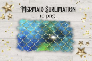 Sublimation Mermaid Scales Glitter - 2