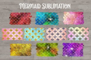 Sublimation Mermaid Scales Glitter - 3