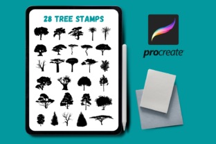 Trees Procreate Stamps Graphic Brushes By SvgOcean
