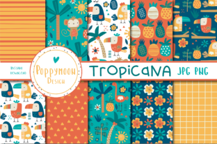 Print on Demand: Tropicana Paper Set Graphic Patterns By poppymoondesign