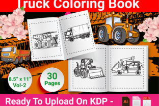 Print on Demand: Truck Coloring Book for Kids Graphic KDP Interiors By Duaa Store