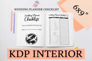 Print on Demand: Wedding Planner Checklist | KDP Interior Graphic KDP Interiors By KDP Mastermind