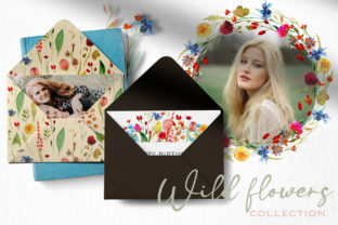 Wild Flowers Watercolor Collection Graphic Illustrations By HappyWatercolorShop 10